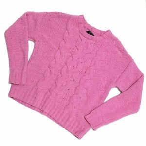 American Eagle pink chenille sweater Small